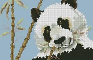 Схема Панда с бамбуком
