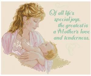 Схема Мама с младенцем