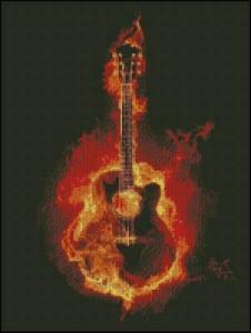Схема Огненная гитара