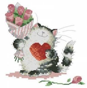 Схема Влюблённый котик