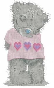 Схема В розовой футболке