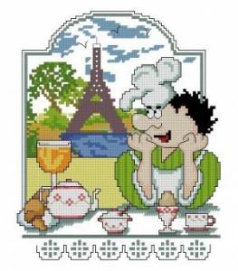 Схема Завтрак в Париже. Поварята