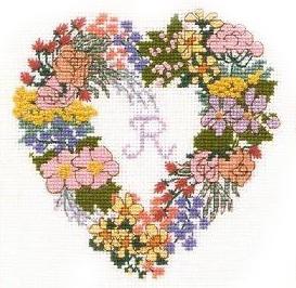 Схема Сердце из цветов