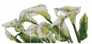 Схема Белые каллы. Триптих