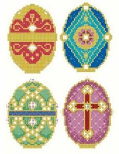 Схема Пасхальные яйца