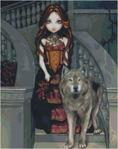 Схема Графиня с волком