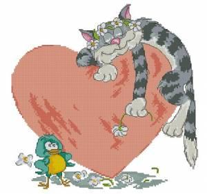 Схема Влюблённый кот