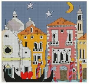 Схема Венецианская гондола