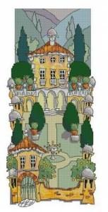 Схема Тосканский сад. Аллея