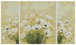 Схема Цветы. Триптих