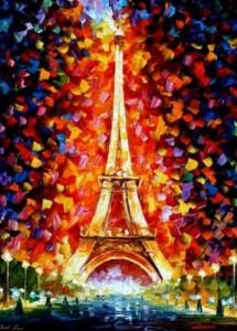 Схема Париж. Эйфелева башня
