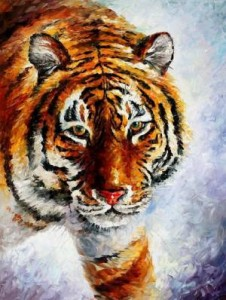 Схема Тигр на снегу