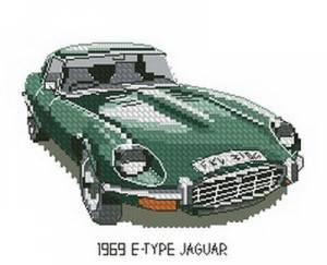 Схема Ягуар /  Jaguar E-Type 1969