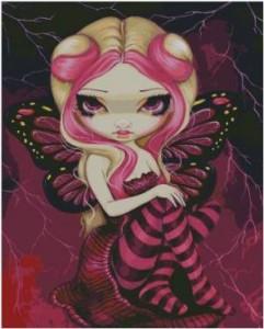 Схема Фея Розовая Бабочка