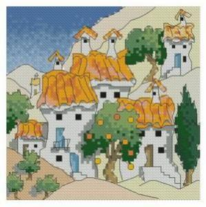 Схема Испанские коттеджи у горы