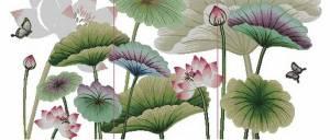 Схема Цветы лотоса. Триптих