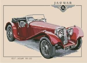 Схема Ягуар / Jaguar SS100 1937