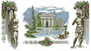 Схема Античный пейзаж. Триптих