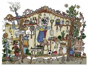 Схема Садовый сарай