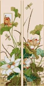 Схема Цветы Азии