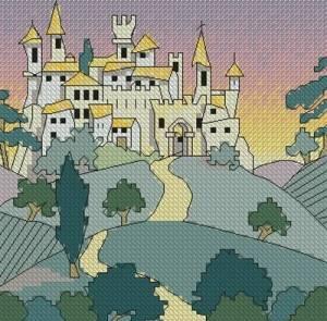 Схема Городок среди холмов