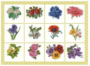 Схема Цветы. Робин