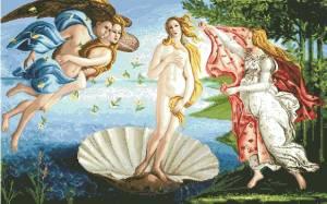 Схема Рождение Венеры. Сандро Ботичелли