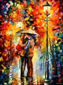 Схема Поцелуй под дождем