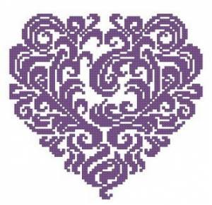 Схема Ажурное сердечко