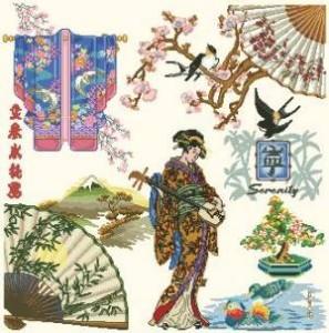 Схема Японские символы. Робин