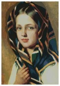Схема Девушка в платке — А