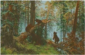 Вышивка крестом сосновый лес схема