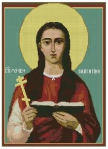 Схема Икона Святая Валентина