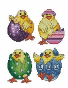 Схема Пасхальные цыплята