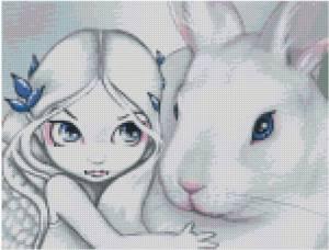 Схема Снежный кролик
