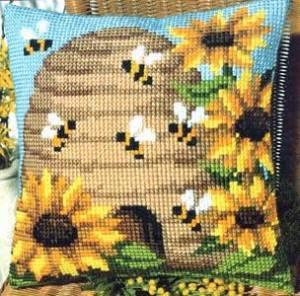 Схема Улей и пчелы. Подушка