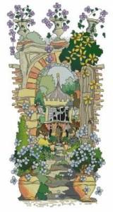 Схема Тайный сад. Вазоны