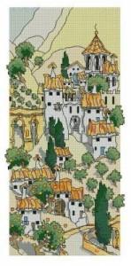 Схема Испанский городок у гор