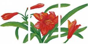 Схема Красная лилия. Триптих