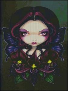 Схема Фея Чёрная Орхидея