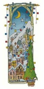 Схема Рождественские огни и ёлка