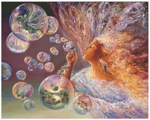 Схема Цветные пузыри