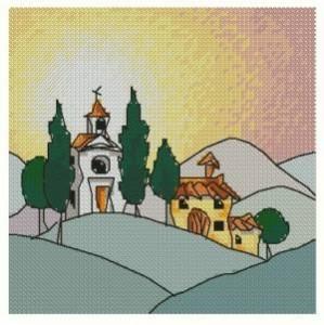 Схема Коттедж в Тоскании