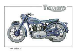 Схема Мотоцикл / Triumph 6T CTR194 - 1949