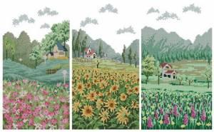 Схема Цветочные поля. Триптих