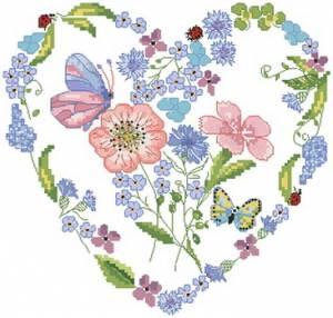 Схема Сердце с бабочками