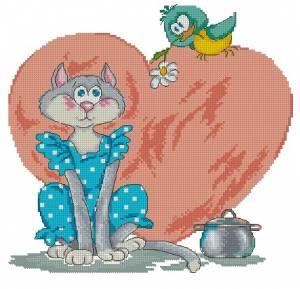 Схема Влюблённая кошечка