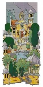 Схема Тосканский сад. Фонтан