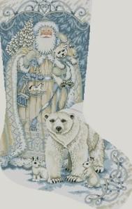 Схема Дед Мороз. Сапожок
