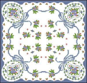 Схема Подушка с маленькими цветочками